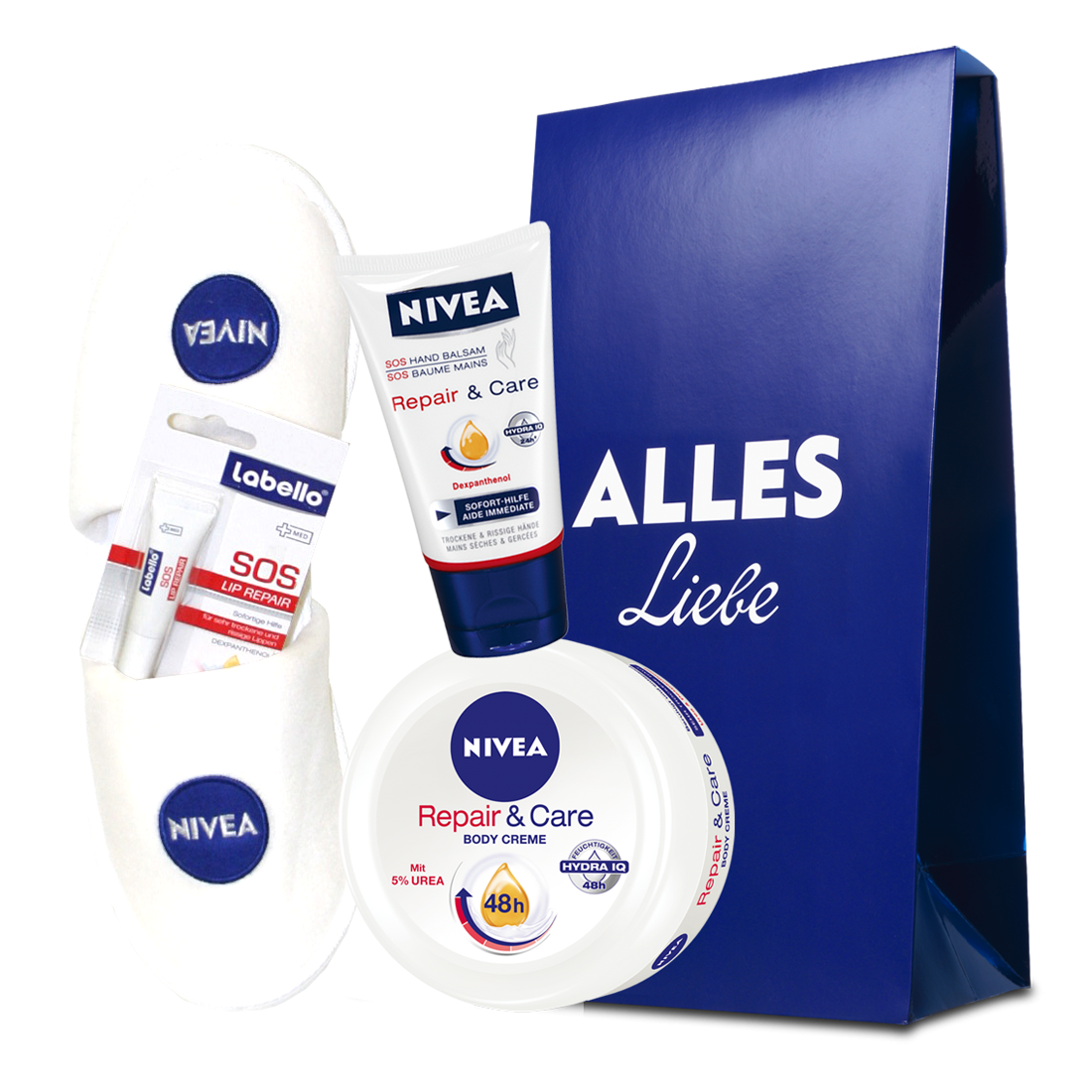 "NIVEA Geschenk-Set ""Repair & Care"" mit SOS Hand Balsam, Body Creme ..."
