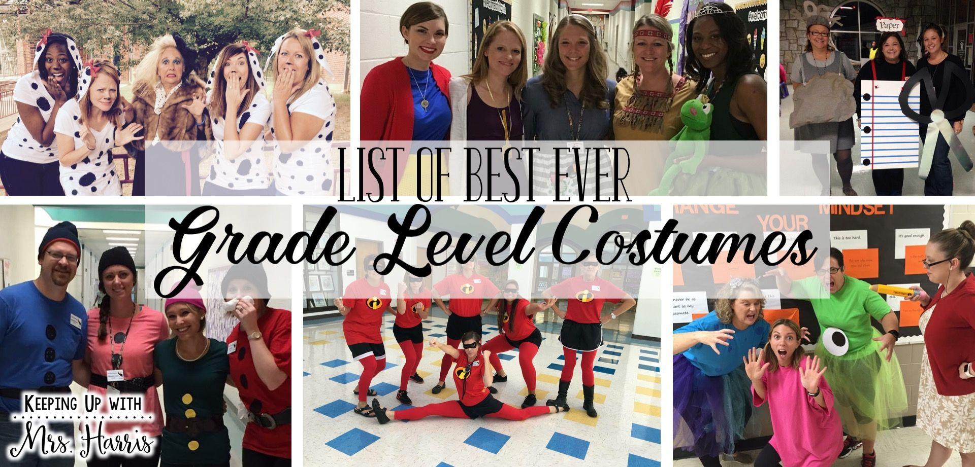 The Best Ever Grade Level Costumes For Teachers The Tpt Blog Book Character Day Teacher Costumes Spirit Week