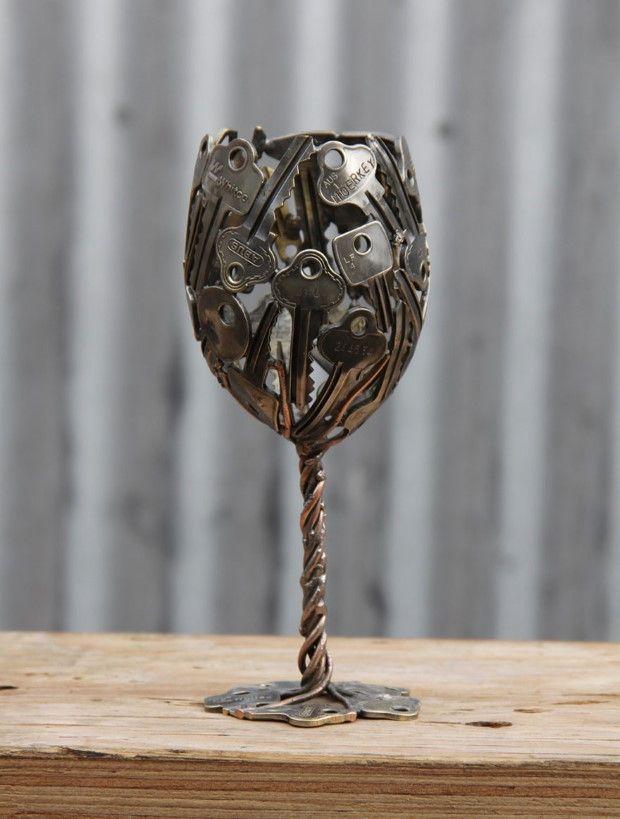recyklovane umenie zo starych klucov a minci 6