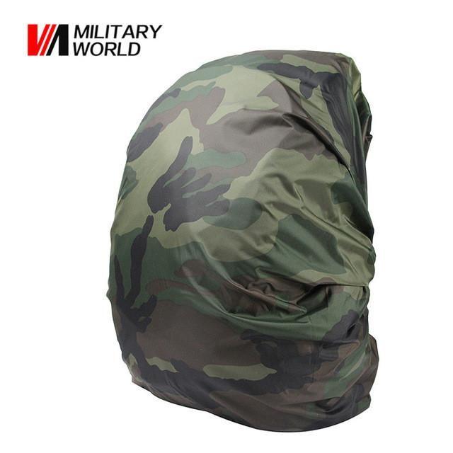9782532982e5 1pc Nylon Camouflage RainCover 30-40L Waterproof Backpack Bag Dust RainCover  Travel Kits Hunting Fishing