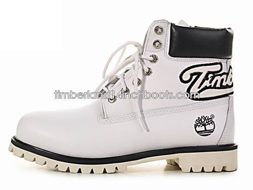 Classic Timberland Mens 6-Inch Words Boot-Black White Black $ 98.00