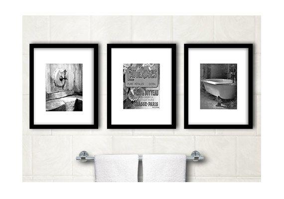 Bathroom Wall Decor Bathroom B W Art Photographs By Woofworld 54 00 Shabby Chic Wall Decor Bathroom Wall Decor Bathroom Decor