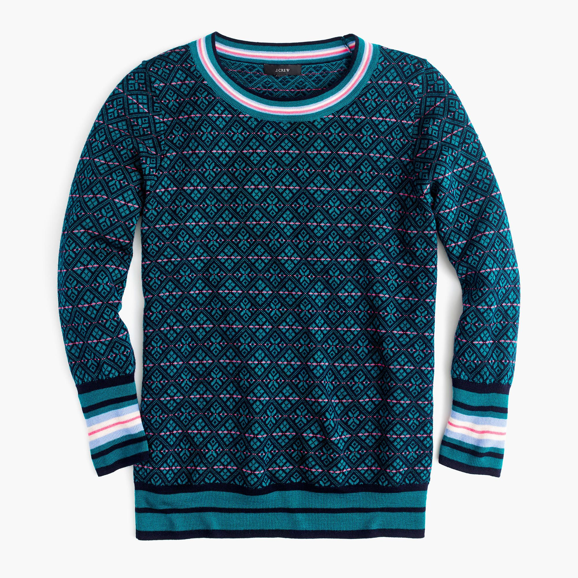 Shop the Tippi Sweater In Festive Fair Isle at JCrew.com and see ...