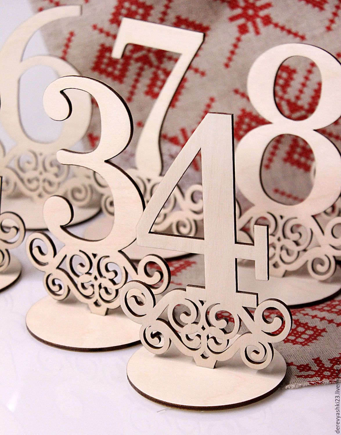 e71477f4b0e Very nice idea! Laser cut Table Numbers | Candy Bar | Madera corte ...