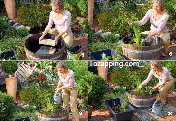 C mo hacer un mini estanque un poco de bricolaje natural Estanque natural como hacerlo