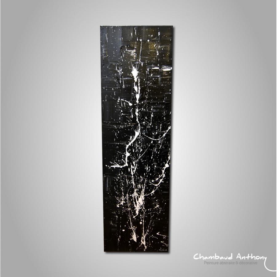 tableau noir et blanc toile abstraite