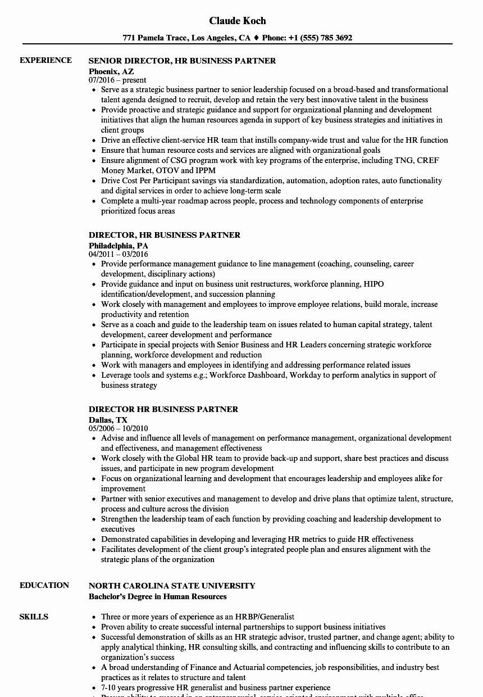 Hr Business Partner Resume Elegant Director Hr Business Partner Resume Samples Sales Resume Examples Project Manager Resume Office Manager Resume