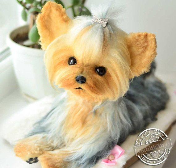 Realistic Puppy Yorkshire Terrier Made To Order Susie Handmade Plush Portrait Pet Miniature Yorkshire Terrier Yorkshire Terrier Puppies Yorkshire Terrier Dog