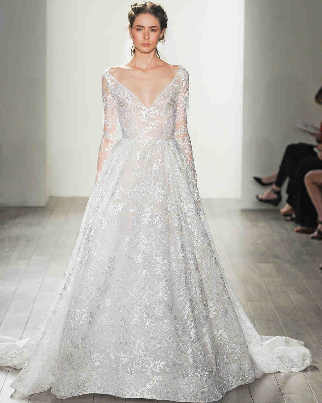 Lazaro Fall 2017 Wedding Dress Collection   Martha Stewart Weddings ...