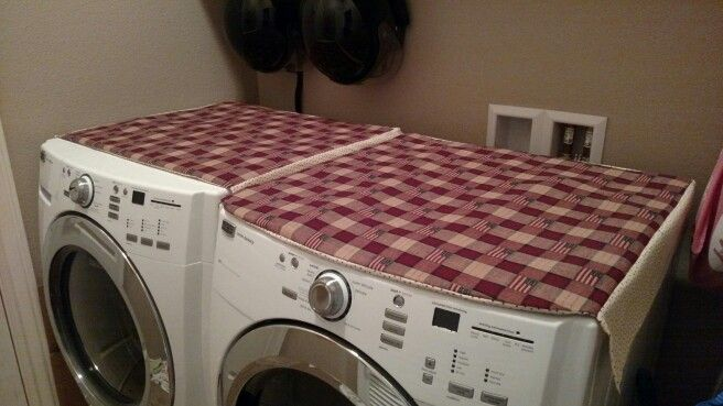 Diy Padded Washer And Dryer Covers Washer And Dryer Covers Washer And Dryer Indoor Decor