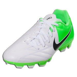 Nike Jr T90 Shoot IV FG - (White/Electric Green/Black) (. Football BootsNu'est  ...