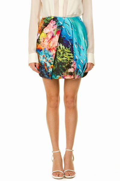 This Mary Katrantzou bubble skirt is so gorgeous and has an awesome undersea feel, perfect for a beachy setting.