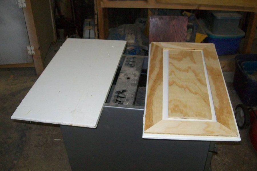 Faux raised panel cabinet door redo by myfathersson lumberjocks faux raised panel cabinet door redo planetlyrics Images