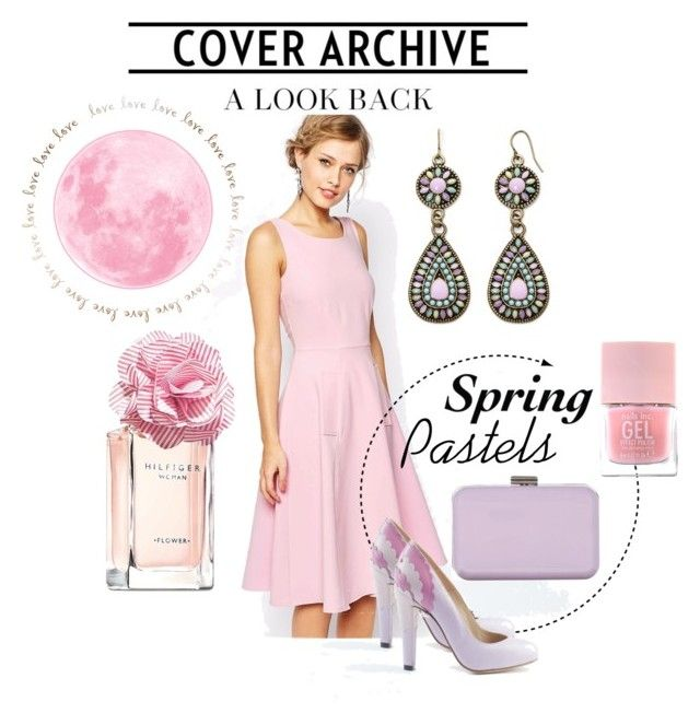 """""""Live it up with our spring pastels!"""" by atmayfair ❤ liked on Polyvore featuring moda, Closet, Decree, Chelsea Flower, SPURR, Nails Inc. y Tommy Hilfiger"""
