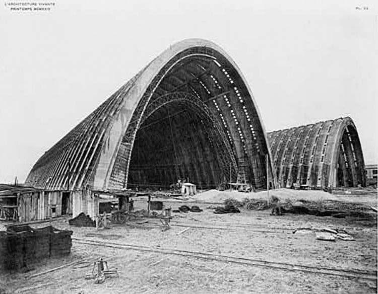 eugene freyssinet hangars d 39 orly 1916 1914 hangars pour. Black Bedroom Furniture Sets. Home Design Ideas