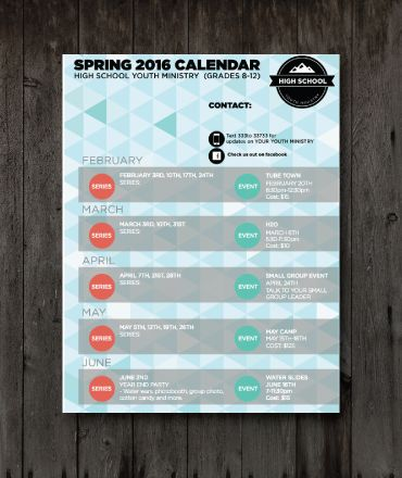Abstract Spring Youth Ministry Calendar Youth Ministry Media Store