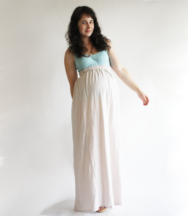 02a78e8262433a Though I do not need to make a maternity skirt, this maxi skirt pattern  seems really easy, and I would love a jersey knit maxi. Add it to the list!