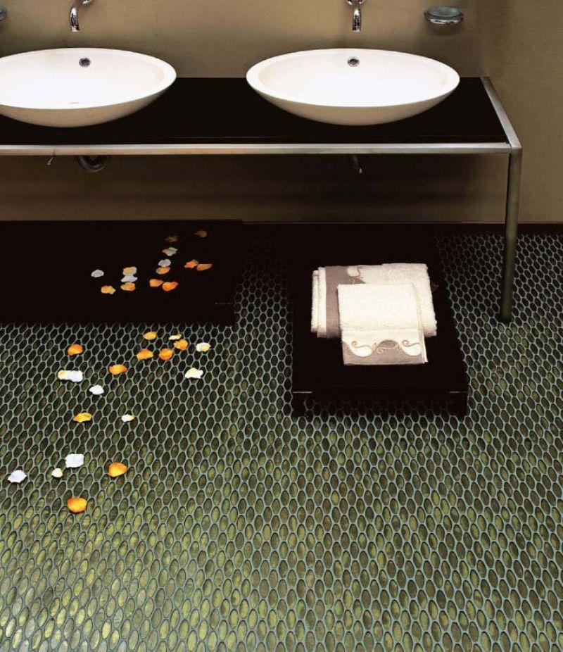 Grune bodenfliesen holen natur design  Grüne Bodenfliesen holen ein Stück Natur ins Haus – 36 Designs ...