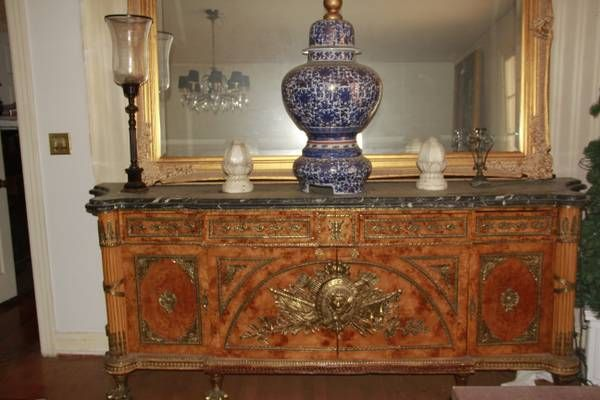 Oklahoma City Craigslist Luxurious Antique Buffet Marble Burlewood Antique Buffet Furniture Decor