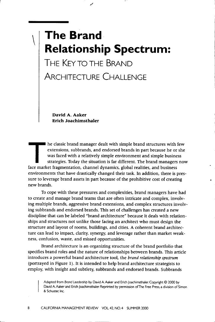 Interbrand  Best Practice For Brand Architecture  Brand