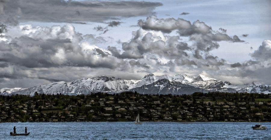~View from Bellevue Geneve Switzerland~
