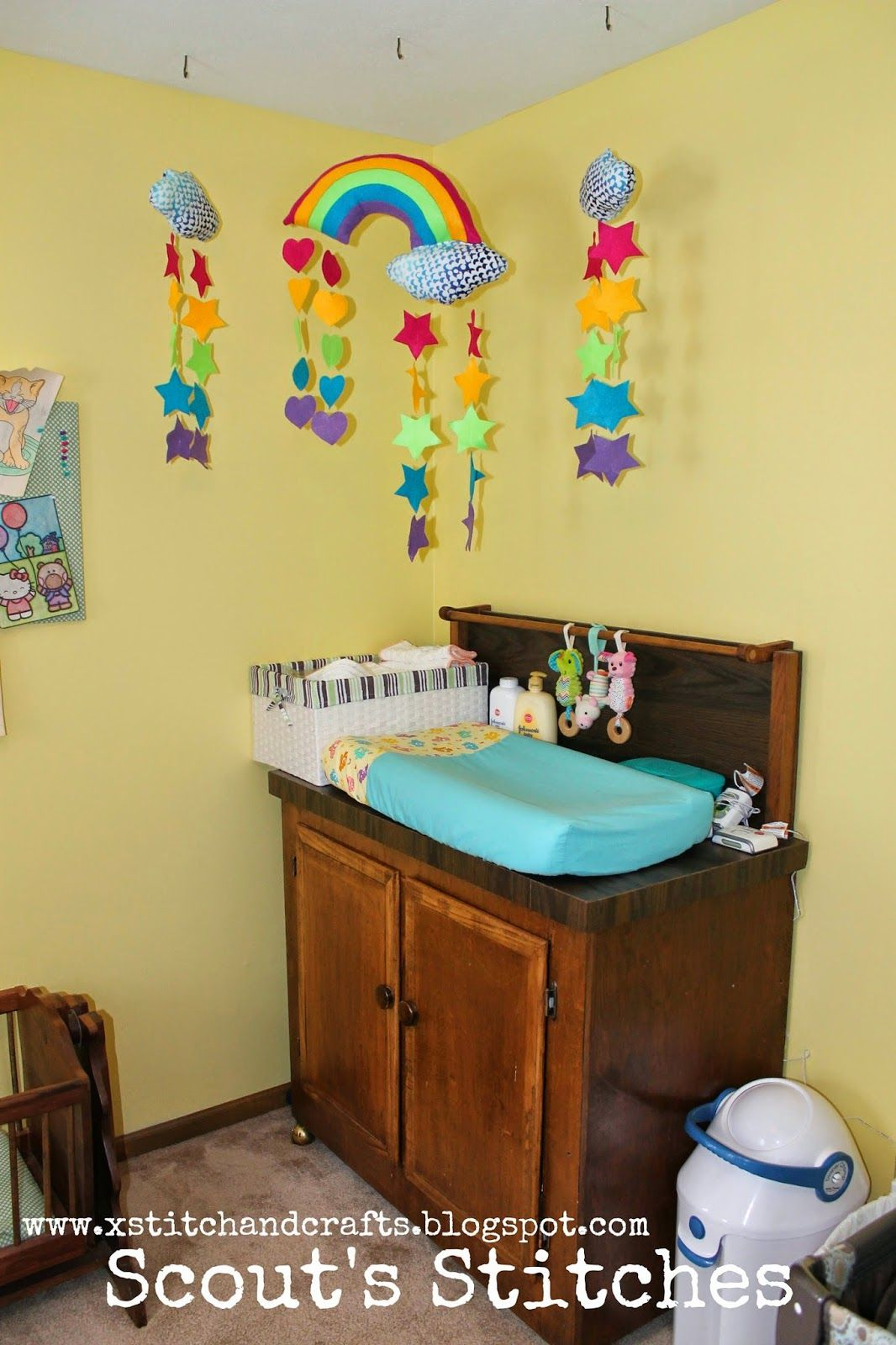 Scout's Stitches: The Twins' Care Bear Nursery