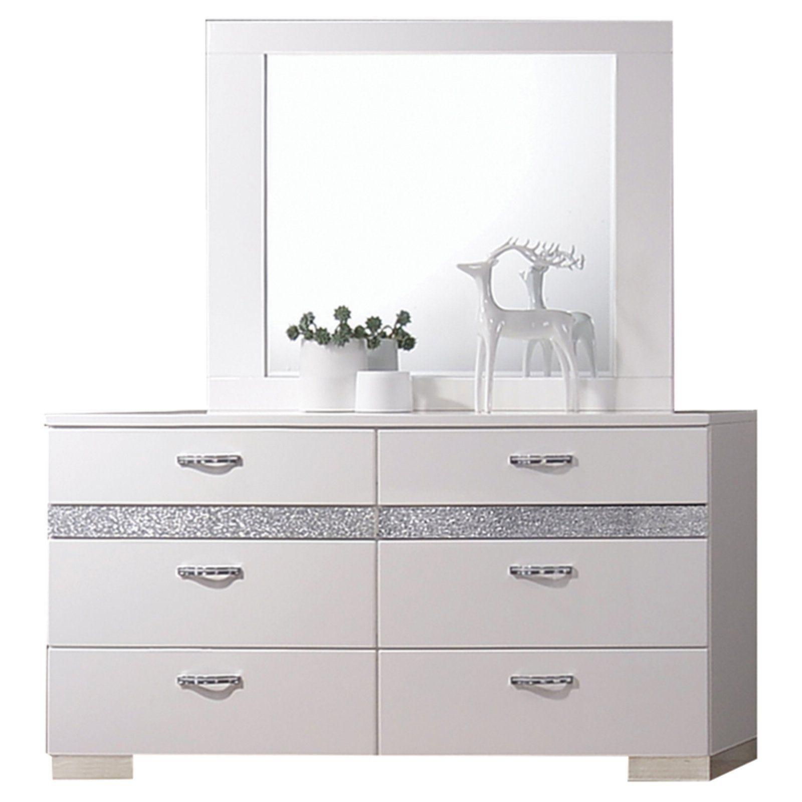 Acme Furniture Naima II 6 Drawer Dresser with Optional