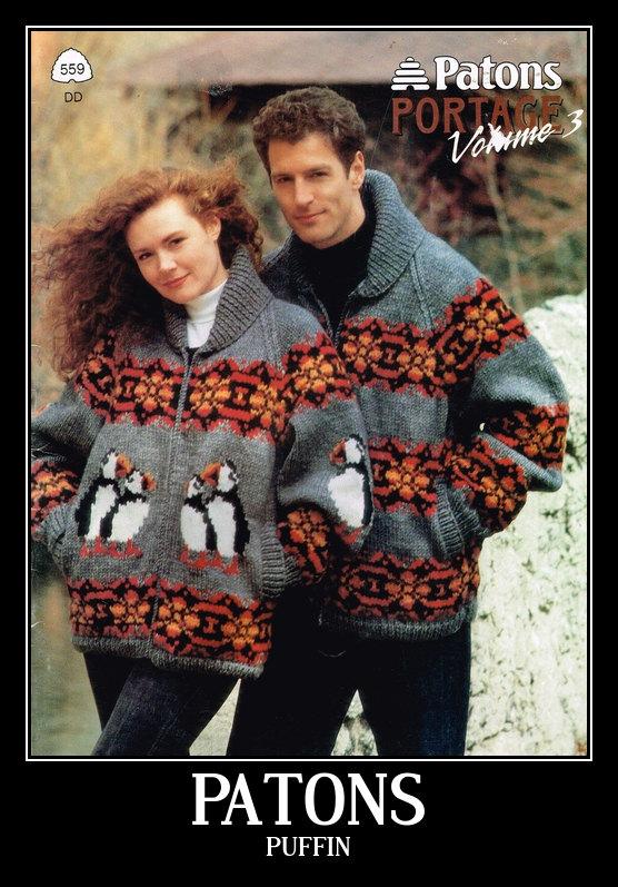 Paton Puffin Sweater Pattern 559 by truenorthknitting on Etsy ...