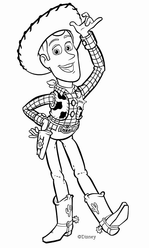 Woody toy Story Coloring Pages Unique Cowboy Sheriff ...
