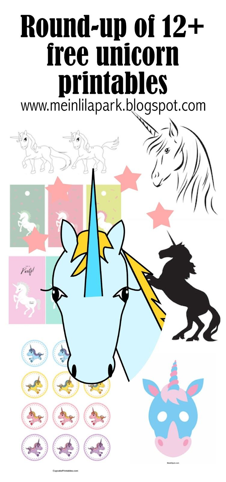 photograph relating to Free Unicorn Printable identified as 12+ totally free unicorn printables - Einhorn - spherical-up