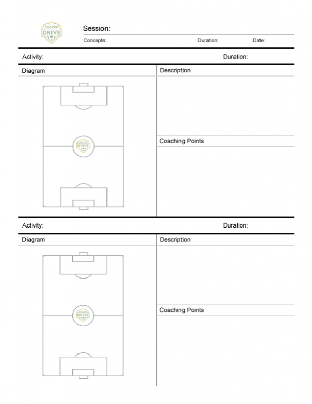 Soccer Practice Sheet Two Full Fields Soccer Practice Soccer Training Soccer Drills For Kids