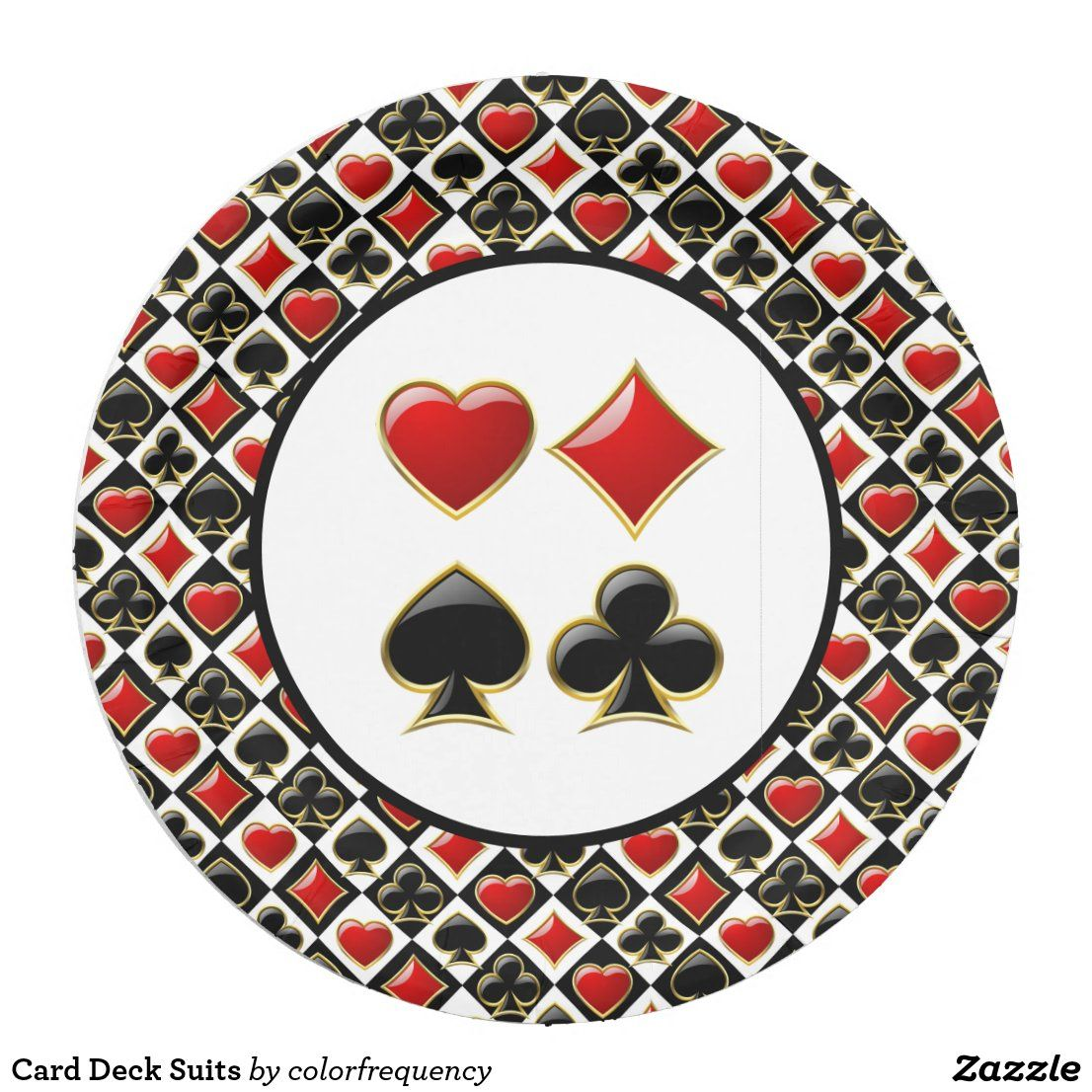 Card Deck Suits Paper Plate