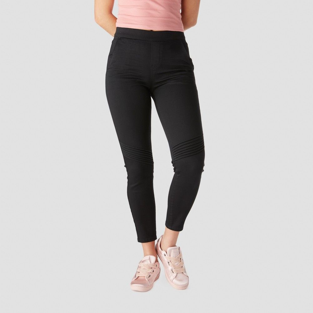 f661ecf6369cb Denizen from Levi's Women's High-Rise Moto Jeggings - (Juniors') Black Wash  XL Gender: Female. Age Group: Adult. Pattern: Solid. Material: Cotton.