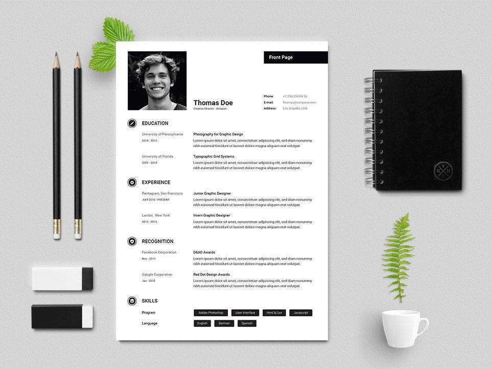 Free creative director resume template resume design