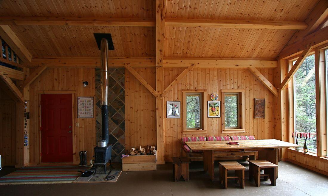 Custom Timber Frame Home U0026 Interior Design, Seldovia, Alaska
