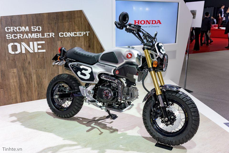 Honda grom msx125 scrambler tokyo motor show 2015 mod for Honda grom scrambler kit
