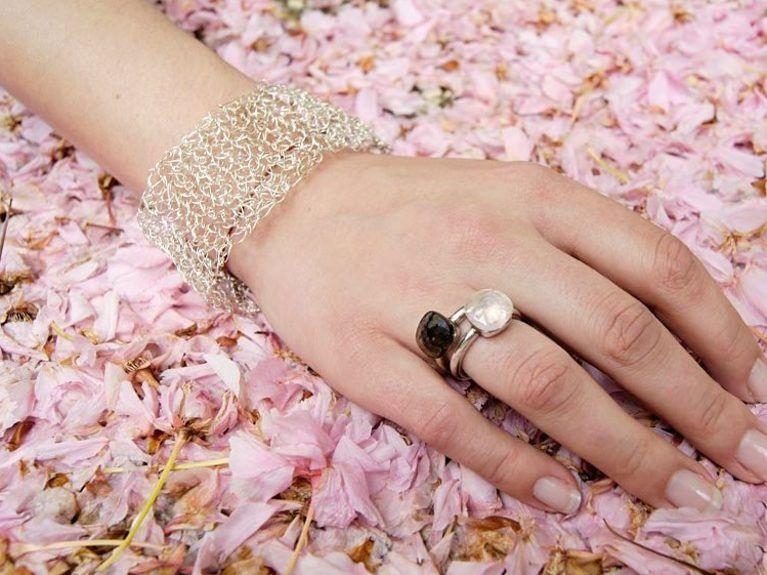 Diy Anleitung Armband Aus Silberdraht Selber Häkeln Via Dawandacom