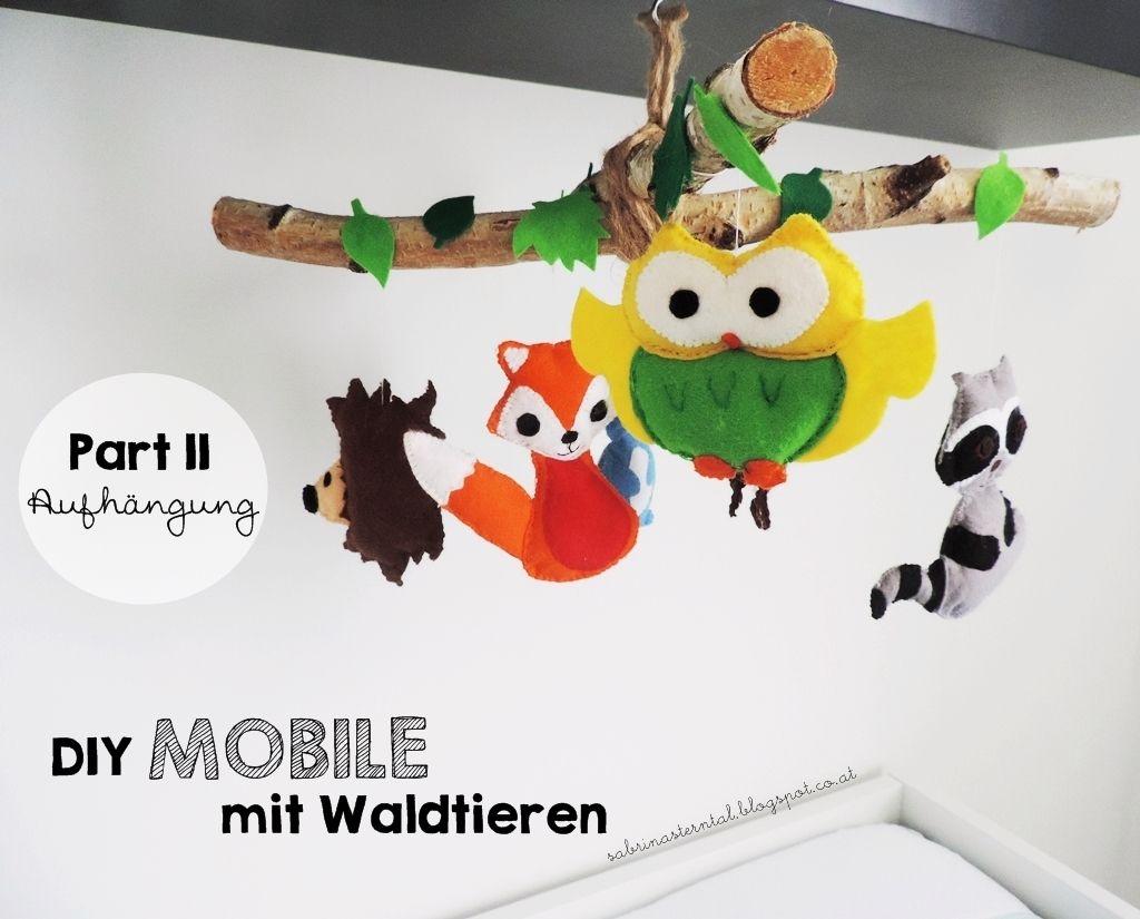 Starlights in the kitchen diy mobile mit waldtieren fürs