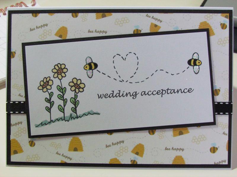 Bumble Bee Wedding Acceptance Card Wedding Acceptance Card Wedding Cards Bee Cards