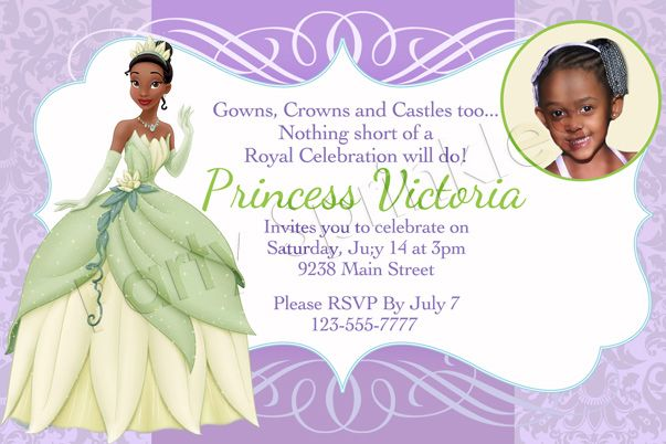 1000 images about party – Princess Tiana Birthday Invitations