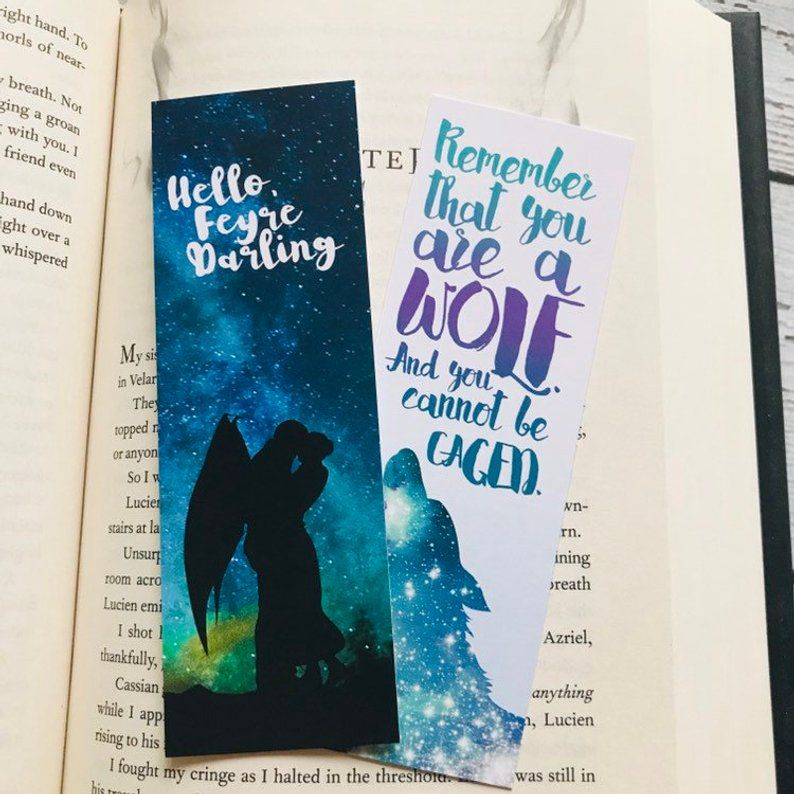 Acomaf Bookmarks Hello Feyre Darling A Court Of Thorns And Etsy