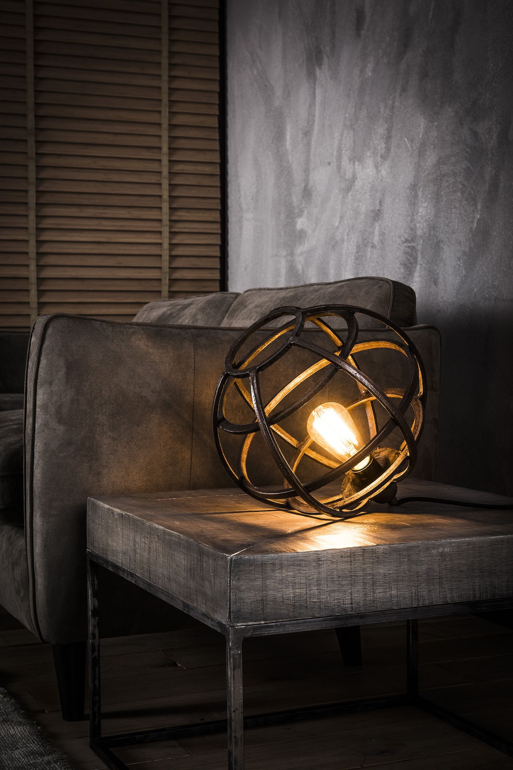 industrial cage lighting. Antique Globe Table Lamp. Spherical, Industrial Cage Lighting T