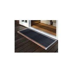 Photo of Outdoor-Fußmatte New Standard Rizz silber, Designer Trudie Zuiddam/well design, 2.2x120x70 cm Rizz