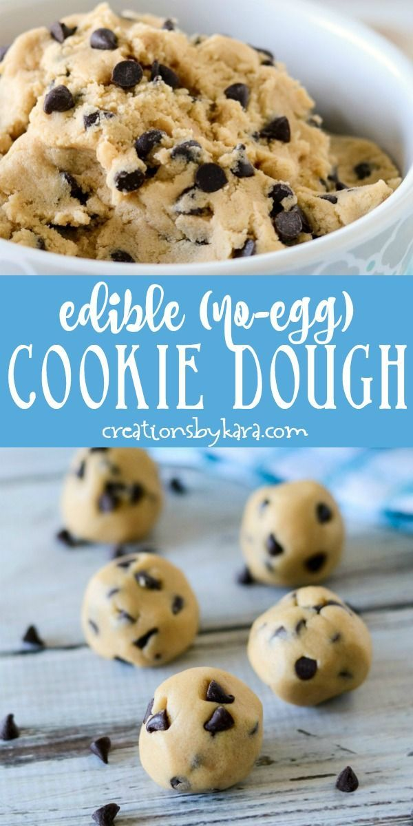 Edible Cookie Dough - no eggs