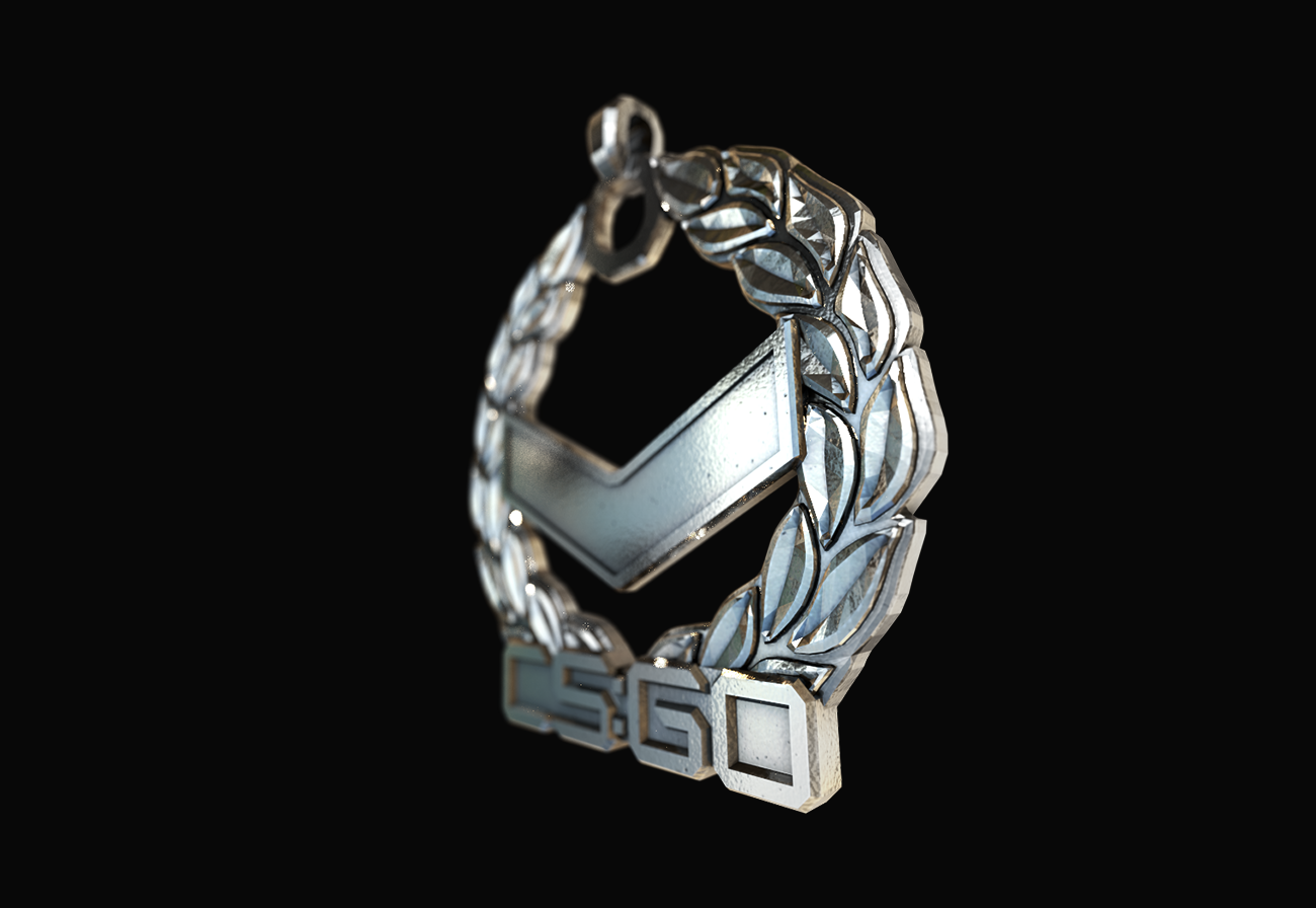 Cs Go Silver 1 Pendant Polished Silver Made By Cybersmithy A Pendant Based On The Cs Go Silver 1 Rank From Silver One To Pendant Rings For Men Silver