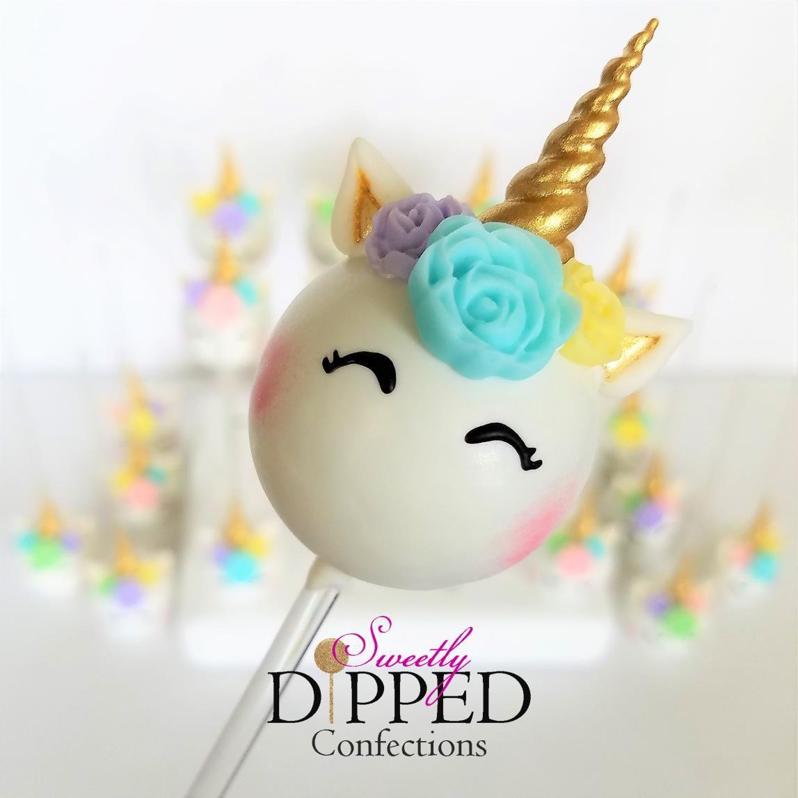 Unicorn Cake Pops Unicorn Themed Cake Pops Unicorn Cake Pops