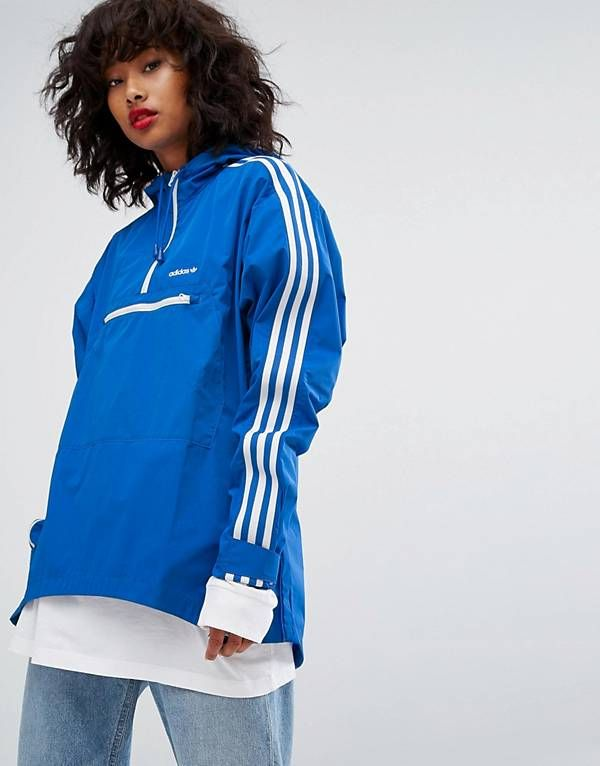 De Con Azul Cremallera Y Capucha Media Tennoji Sudadera Adidas 7TBFqn