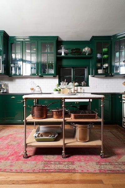 Emerald Green Kitchen For The Home Green Kitchen Cabinets