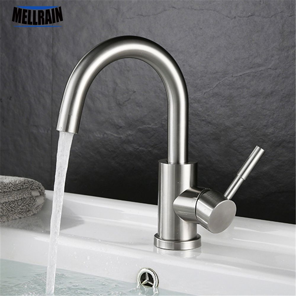 Single handle rotatable bathroom faucet high quality stainless steel ...