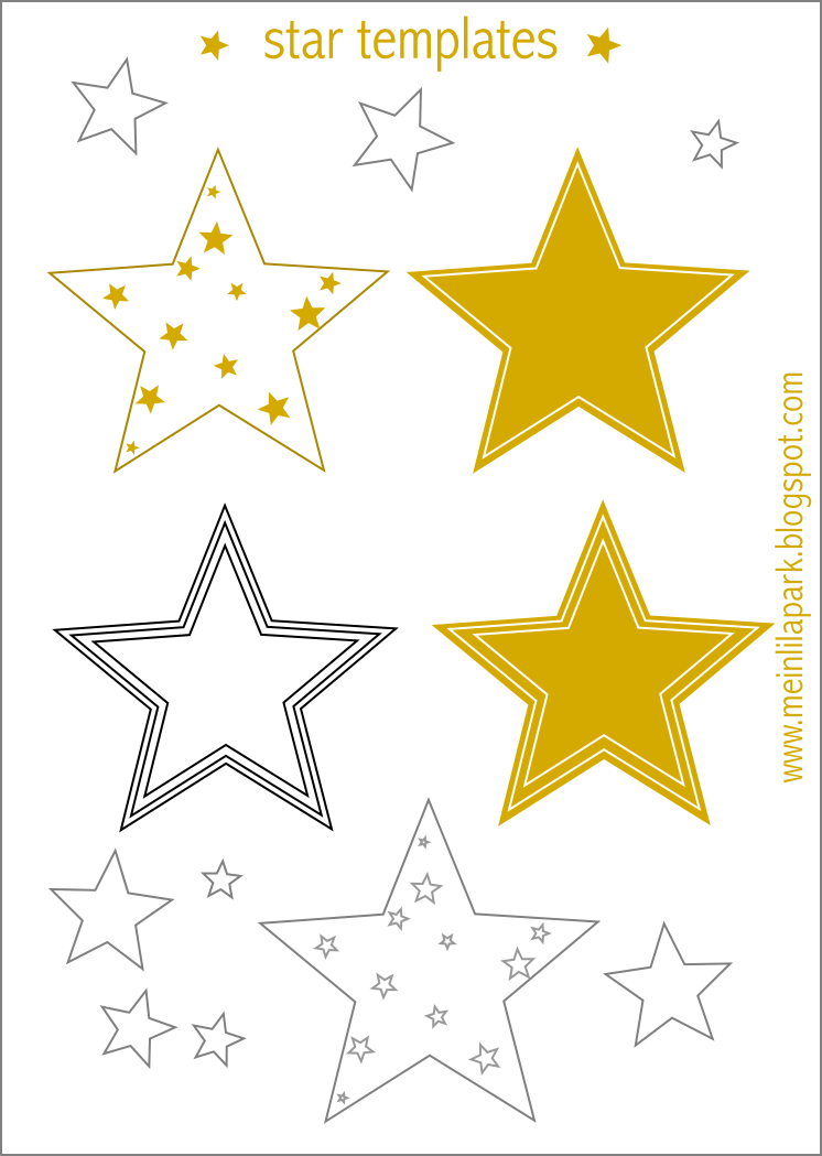 graphic about Free Printable Stars referred to as Totally free printable star templates + 16 very last-moment Do it yourself xmas